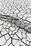 Cracked earth near mud volcanoes Stock Photography
