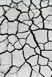Cracked earth near mud volcanoes Stock Photo