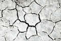 Cracked earth. saline, salt-marsh. texture. Land prone to erosion stock images