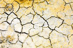 Cracked earth. saline, salt-marsh. texture. Land prone to erosion stock photography