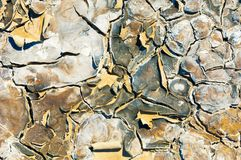 Cracked earth. saline, salt-marsh. texture. Land prone to erosion royalty free stock photography