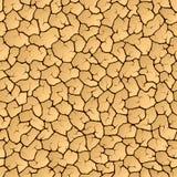 Cracked earth. Seamless illustration. Royalty Free Stock Photos