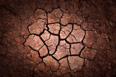 Cracked earth surface background Royalty Free Stock Photos
