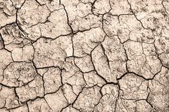 Cracked earth. Texture of cracks in the dry earth. Background wallpaper for design and creativity royalty free stock images
