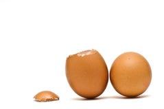 Cracked Egg And Full Egg. Stock Photography