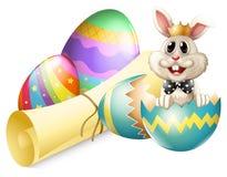 A cracked egg with a bunny Stock Photos