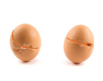 Cracked egg shells isolated Royalty Free Stock Photography