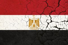 Cracked Egypt Flag - Crisis vector illustration