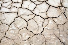 Cracked eroded ground in salt flat desert near San Pedro de Atacama, Chile stock photography
