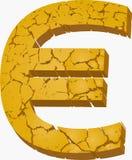 Cracked euro Royalty Free Stock Image