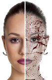 Cracked face. Royalty Free Stock Photography
