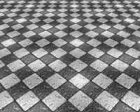 Cracked fleeing mosaic Stock Photo