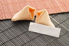Cracked Fortune Cookie Royalty Free Stock Photo