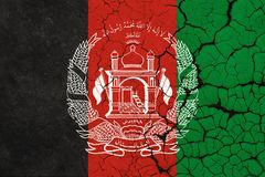 Cracked Afghanistan Flag - Crisis royalty free illustration