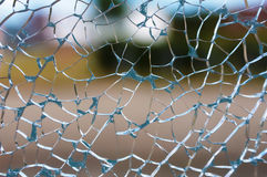 Cracked glass. Close up of broken window pane Stock Images