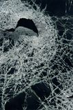 Cracked glass. Royalty Free Stock Images