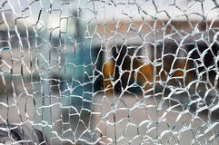 Cracked glass Stock Photos