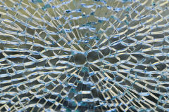 Cracked Glass. A cracked and broken glass window royalty free stock photography