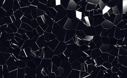 Cracked Glass. Window or windshield Royalty Free Stock Photography