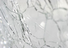 Cracked glass. Broken glass background Stock Photo