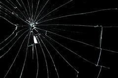 Cracked glass Stock Photo
