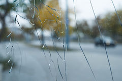 Cracked glass Stock Photo