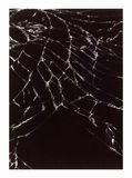 Cracked Glass. Smartphone broken glass on a black background Stock Images