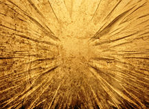Cracked gold grunge background Royalty Free Stock Photos