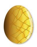 Cracked Golden Egg Stock Photography