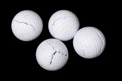 Cracked golf balls Royalty Free Stock Photography
