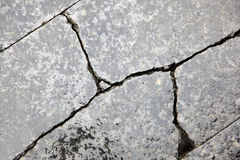 Cracked granite after rain Stock Image