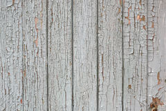 Cracked gray paint on boards background. Stock Images