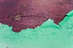 Cracked green paint on wood Stock Photography