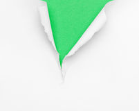 Cracked green paper background Royalty Free Stock Photos