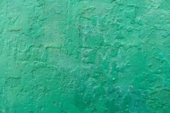 Cracked green wall background texture Royalty Free Stock Images