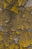 Cracked grey yellow old wall Royalty Free Stock Image
