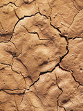Cracked ground. Cracked mud in the sun Royalty Free Stock Photography