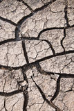 Cracked ground caused by drought. Impact of global warming conce Royalty Free Stock Image