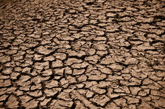 Cracked Ground Dirt. Cracked and Arid Mud Ground Dry without water royalty free stock photos