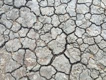 Cracked ground. The cracked ground, Dry, Soil texture, rainless Stock Images