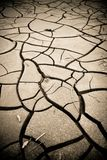 Cracked ground: the effects of drought Stock Photo