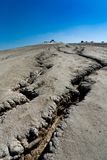 Cracked ground from muddy volcanoes in Romania Royalty Free Stock Photography