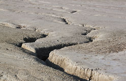 Cracked ground - RAW format Royalty Free Stock Image
