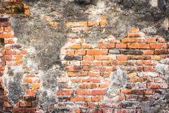 Cracked  grunge brick wall Stock Photo