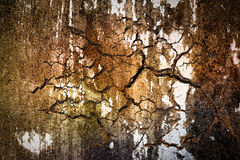 Cracked grunge concrete wall Royalty Free Stock Photo