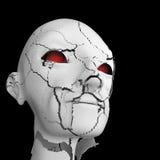 Cracked Head. Cracked Human Head 3d Sculpture Royalty Free Stock Photos
