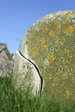 Cracked headstone brighton cemetery stock images