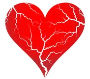 Cracked heart Royalty Free Stock Photography