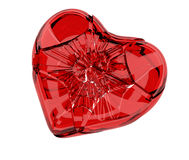 Cracked heart Royalty Free Stock Photo