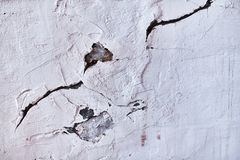Cracked from the heat of the furnace wall. Background royalty free stock image